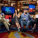 WATCH WHAT HAPPENS LIVE -- Episode 12085 -- Pictured: (l-r) Andy Cohen, Bellamy Young, Guillermo Diaz, Katie Lowes -- (Photo by: Charles Sykes/Bravo)